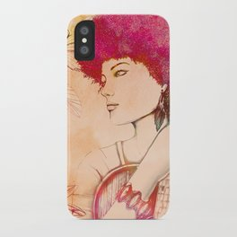 Afro musician girl face african girl iPhone Case
