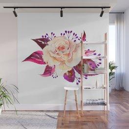 Bouquet, Rose, Bud, Berry, Leaf, Shabby, Cottage, Chick, Design, Original, Unique Wall Mural