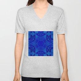 Blue kaleidoscope 2 Unisex V-Neck