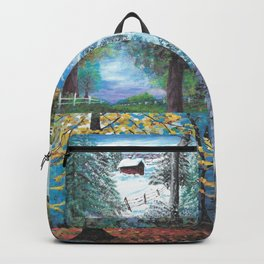 All Seasons Collage Backpack