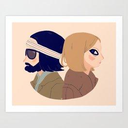 Margot and Richie Art Print