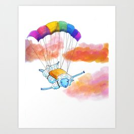 Dive the Sky Art Print
