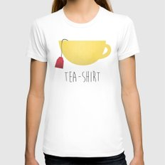 Tea-Shirt SMALL White Womens Fitted Tee