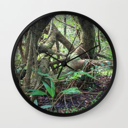 Dancing trees in the cloud forest  -  Tradewinds trail El Yunque rainforest PR Wall Clock