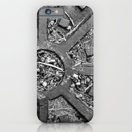 High Contrast Manhole Cover iPhone Case
