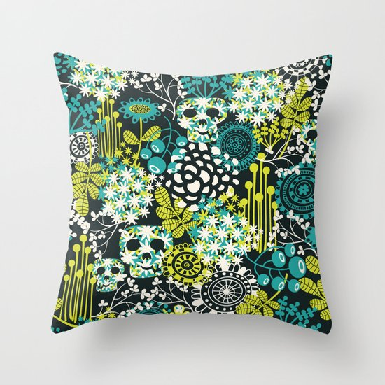 Flowers on the head. Throw Pillow