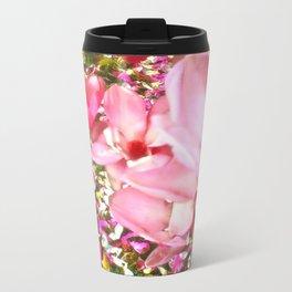 Pink Blossoms Metal Travel Mug