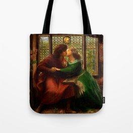"""Dante Gabriel Rossetti """"Paolo and Francesca da Rimini"""" Tote Bag"""