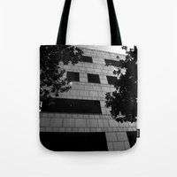 building Tote Bags featuring Building by Yancey Wells