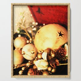 Holiday christmas decoration baubles | Serving Tray