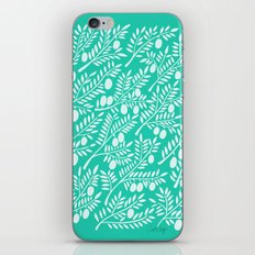 Turquoise Olive Branches iPhone & iPod Skin