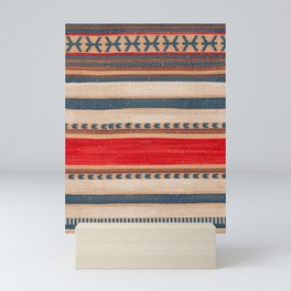 N66 - Classic Oriental Moroccan Style Fabric. Mini Art Print