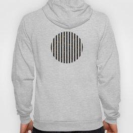 Black and White Stripes Gold Geometric Pattern Hoody