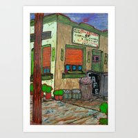 Grilled Cheese & Museum  Art Print