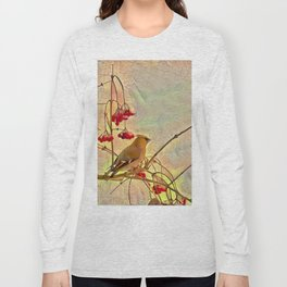 Bird waxwing Long Sleeve T-shirt