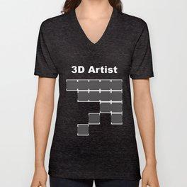 3D Artist Unisex V-Neck
