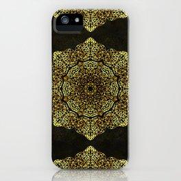 Golden Flower Mandala G346 iPhone Case