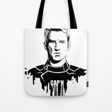 Avengers in Ink: Captain America Tote Bag