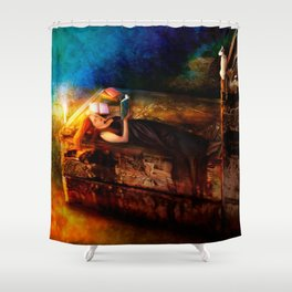 Ex Libris - A Book Lover's Dream Shower Curtain