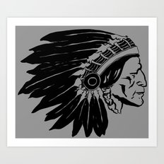 Chief Two Moons Art Print