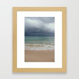 The storm. Framed Art Print