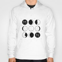 moon phases Hoodies featuring The Moon Phases by Mírë