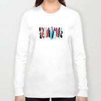 the strokes Long Sleeve T-shirts featuring Paint Strokes by Allison Kiloh