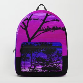 Black tree with birds silhouette Backpack