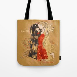 The Invention of the Kiss Tote Bag