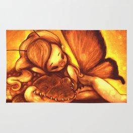 Cute Sleeping Fairy and Alligator Rug
