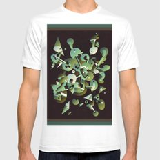 Schema 3 SMALL Mens Fitted Tee White