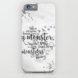 Six of Crows - Monster - White iPhone Case