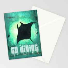 Go Diving! - Manta Ray Stationery Cards
