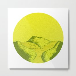 Yellow Y Path Metal Print