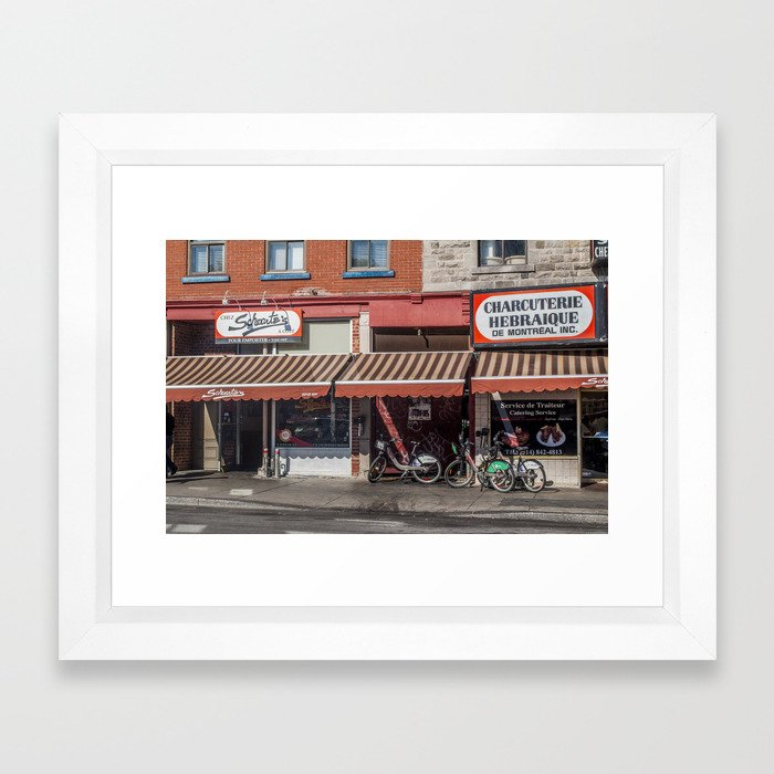Schwartz's Smoked Meats Framed Art Print