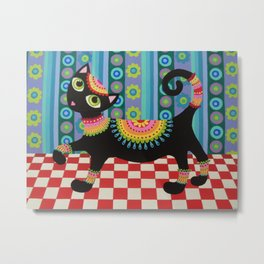 Kool Kitty Metal Print