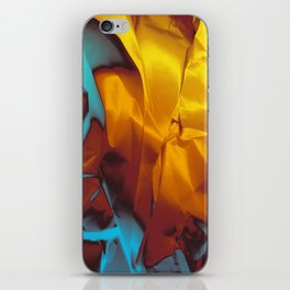 Cruising to Calisto. Orange and Teal Abstract. iPhone Skin