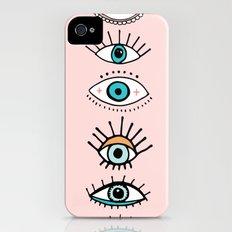 eye illustration print Slim Case iPhone (4, 4s)