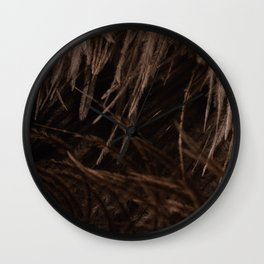 Close up of Ostrich Feathers Wall Clock