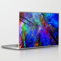 decal Laptop & iPad Skins featuring Colorful forest by haroulita