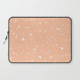 Apricot Ice Splatter Spots Laptop Sleeve
