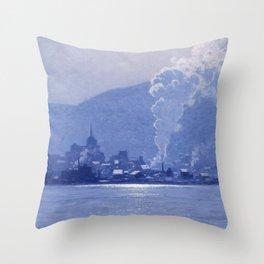 Birge Harrison - A Puff Of Steam Throw Pillow