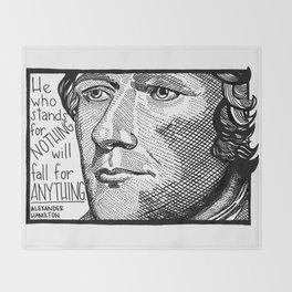 Alexander Hamilton Throw Blanket