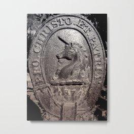 1874 UNICORN Metal Print