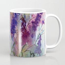 Delphinium Blues, from my original watercolor Coffee Mug