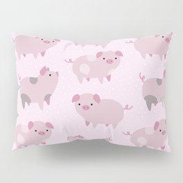 Cute Pink Piglets Pattern Pillow Sham