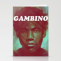 childish gambino Stationery Cards featuring Gambino by NArtist_P3rhaps