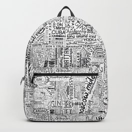 Drinks Full Tag Cloud Backpack