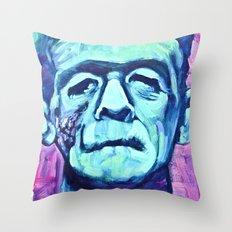 Frankenstein Halloween Zombie Throw Pillow
