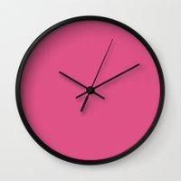 grim fandango Wall Clocks featuring Fandango pink by List of colors